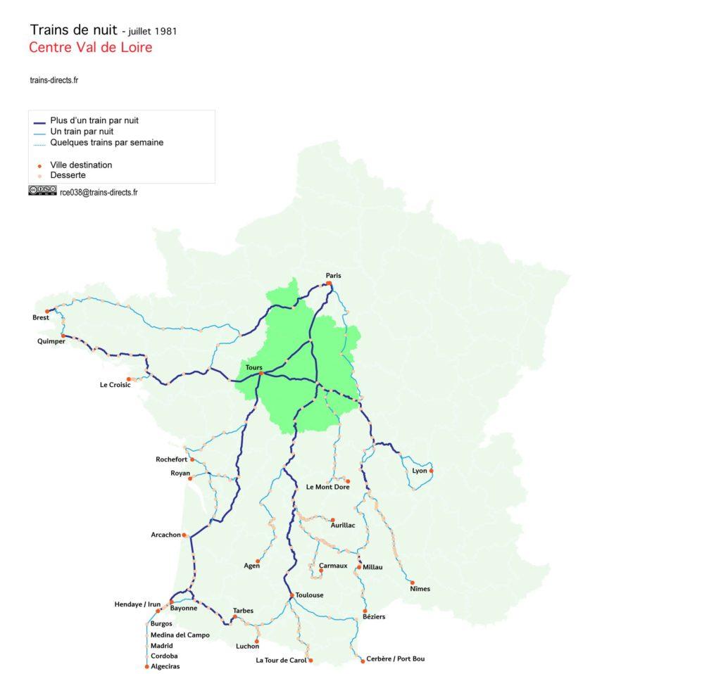 Trains de nuit Centre Val de Loire