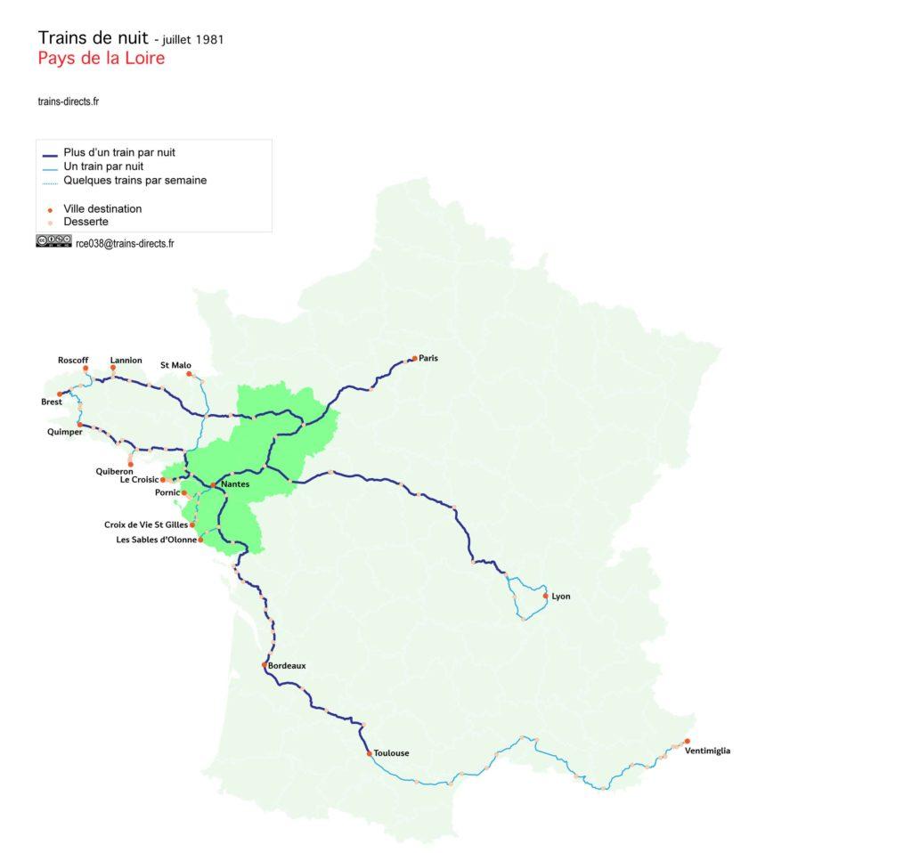 Trains de nuit Pays de la Loire