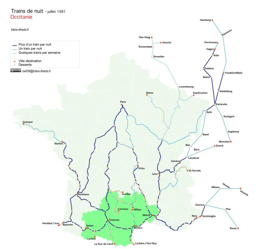 Trains de nuit Occitanie
