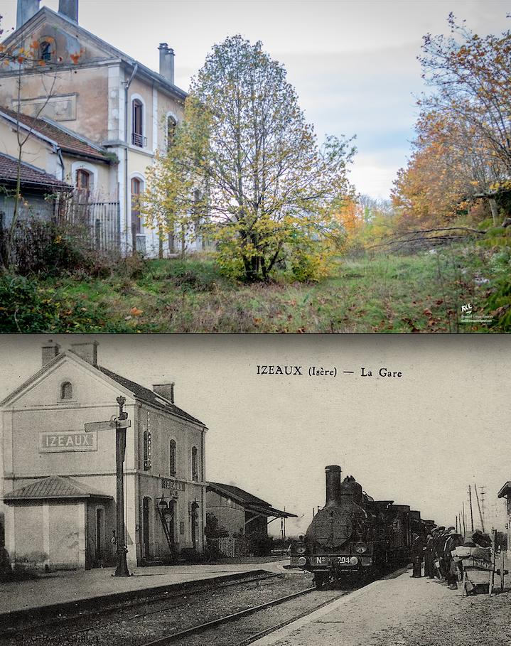 La gare d'Izeaux (38)